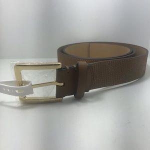 New Michael Kors Tan color Belt Choos size